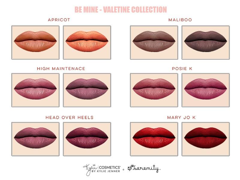 Набор жидких матовых помад Kylie Valentine Collection
